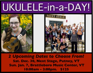 Ukulele-in-a-Day! with Lisa McCormick @ Next Stage | Putney | Vermont | United States